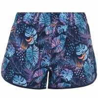 Hot Tuna Дамски Плувни Шорти Swim Shorts Ladies Palm Print Дамски бански