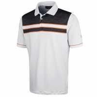 Under Armour Мъжка Блуза С Яка Performance Striped Golf Polo Shirt Mens White Мъжки тениски с яка