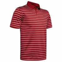 Under Armour Мъжка Блуза С Яка Performance Striped Golf Polo Shirt Mens Stadium Red Мъжки тениски с яка