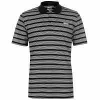 Slazenger Мъжко Поло Райе Stripe Polo Shirt Mens Black/White Мъжко облекло за едри хора
