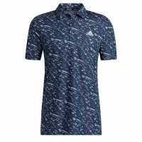 Adidas Мъжка Блуза С Яка Stripe Gradient Polo Shirt Mens Grey Мъжки тениски с яка