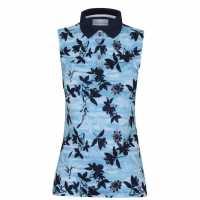 Callaway Дамска Блуза С Яка Honey Comb Floral Polo Shirt Ladies  Дамски тениски с яка