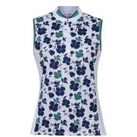 Callaway Print Floral Vest  Дамски тениски с яка