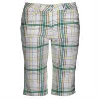 Chervo Дамски Шорти За Голф Glory Ladies Golf Shorts White/Green Дамски къси панталони