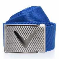 Callaway Мрежест Колан Web Belt Mens Magnetic Blue Колани