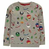 Star Crew Neck Knit Junior Xmas Family AOP Коледни пуловери