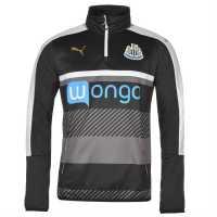 Puma Мъжка Спортна Тениска Newcastle United Quarter Zip Training Top Mens Black/White Мъжки тениски и фланелки