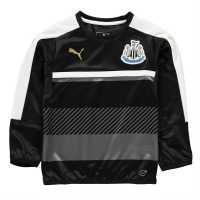Puma Newcastle United Sweat Tops Junior Black/White Детски суитчъри и блузи с качулки