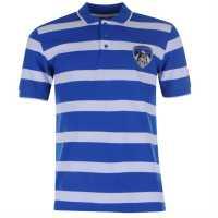 Team Мъжко Поло На Ивици Athletic Stripe Polo Mens Blue/White Мъжки тениски с яка