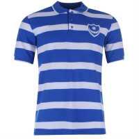 Team Мъжко Поло На Ивици Fc Stripe Polo Mens Blue/White Мъжки тениски с яка