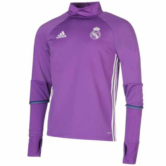21f7ee0c112 Adidas Мъжка Спортна Тениска Real Madrid Training Top Mens Purple Мъжки  тениски и фланелки