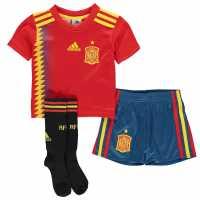 Adidas Spain Home Mini Kit 2018 Red/Gold Испански футболни фланелки