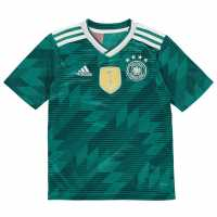 Adidas Germany Away Shirt 2018 Junior Green/White Немски футболни фланелки