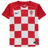 Nike Домакинска Футболна Фланелка Croatia Home Shirt 2018 Junior Red/White Хърватски футболни фланелки