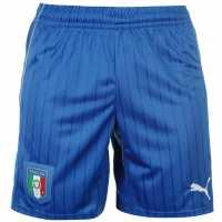 Puma Детски Шорти Italy Away Shorts Junior Blue/White Детски къси панталони
