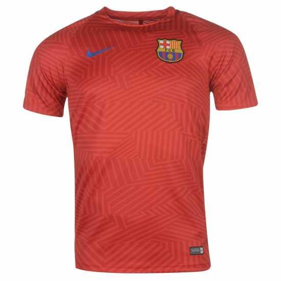 Nike Fb Barcelona Pre Match Jersey Mens Red Мъжки тениски и фланелки b4c01a86a
