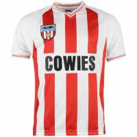 Scoredraw Мъжка Фланелка Домакин Score Draw Sunderland Afc 1984 Home Jersey Mens Red/White Футболни тениски на Съндърленд
