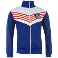 Scoredraw Мъжко Спортно Горнище Score Draw Retro Portsmouth 1976 Track Top Mens Royal Футболни фланелки на Портсмут