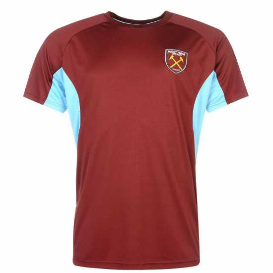 c6d4cc2beff Source Lab Мъжка Тениска West Ham United T Shirt Mens Claret/Blue Мъжки  тениски и
