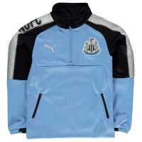 Puma Детска Спортна Тениска Newcastle United Quarter Zip Training Top Junior Blue/Black Детски тениски и фланелки