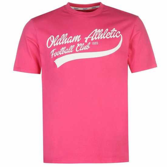 1efb5b39770 Team Мъжка Тениска Oldham Athletic Classic T Shirt Mens Pink Мъжки тениски  и фланелки
