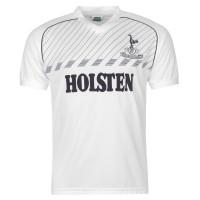 Scoredraw Мъжка Фланелка Домакин Score Draw Tottenham Hotspur 1986 Home Jersey Mens White Футболни тениски на Тотнъм Хотспър