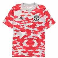 Adidas Manchester United Pre Match Shirt 2021 2022 Junior  Детски тениски и фланелки