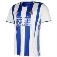 Adidas Домакинска Футболна Фланелка Real Sociedad Home Shirt 2016 2017 White/Blue Футболни тениски на Уестхам Юнайтед