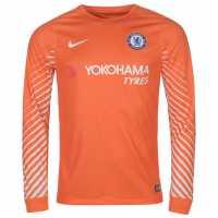 Nike Chelsea Home Goalkeeper Shirt 2017 2018 Orange/White Футболни тениски на Челси