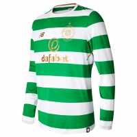 New Balance Домакинска Футболна Фланелка Celtic Home Shirt 2017 2018 Long Sleeve Green/White Футболни фланелки на Селтик