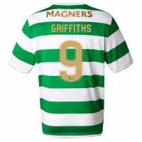 New Balance Домакинска Футболна Фланелка Celtic Griffiths Home Shirt 2017 2018 Green/White Фланелки с щампа