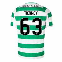 New Balance Домакинска Футболна Фланелка Celtic Kieran Tierney Home Shirt 2018 2019 White/Green