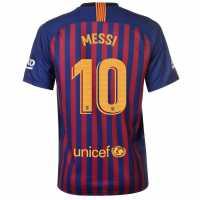 Nike Домакинска Футболна Фланелка Barcelona Lionel Messi Home Shirt 2018 2019 Royal Blue Футболни фланелки Барселона