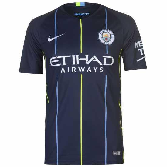 df2c6d8b84f Nike Manchester City Kevin De Bruyne Away Shirt 2018 2019 Navy