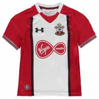 Under Armour Домакинска Футболна Фланелка Southampton Home Shirt 2017 2018 Junior Red/White Футболни тениски на Астън Вила