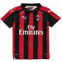Puma Домакинска Футболна Фланелка Ac Milan Home Shirt 2018 2019 Junior Red/Black