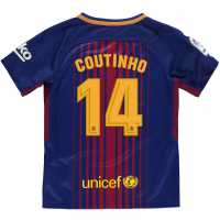 Nike Домакинска Футболна Фланелка Barcelona Coutinho Home Shirt 2017 2018 Junior Royal/Red Футболни фланелки Барселона