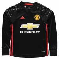 Adidas Manchester United Home Goalkeeper Shirt 2016 2017 Junior Boys Black/Red Футболни тениски на Манчестър Юнайтед