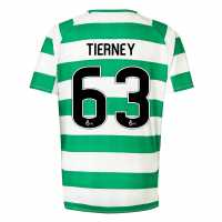 New Balance Домакинска Футболна Фланелка Celtic Kieran Tierney Home Shirt 2018 2019 Junior White/Green