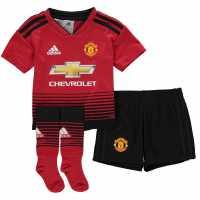 Adidas Manchester United Home Mini Kit 2018 2019 Red Футболни тениски на Манчестър Юнайтед
