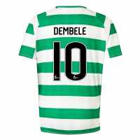 New Balance Домакинска Футболна Фланелка Celtic Moussa Dembele Home Shirt 2018 2019 Junior White/Green