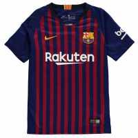 Nike Домакинска Футболна Фланелка Barcelona Home Shirt 2018 2019 Junior Royal Blue Футболни фланелки Барселона