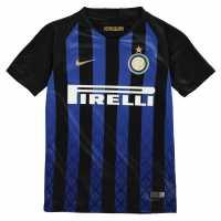 Nike Домакинска Футболна Фланелка Inter Milan Home Shirt 2018 2019 Junior Black/Blue Футболни тениски на Интер Милан