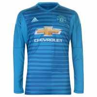 Adidas Manchester United Away Goalkeeper Shirt 2018 2019 Junior Blue Футболни тениски на Манчестър Юнайтед