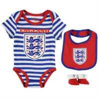 Team Бебешки Комплект 3 Части England 3 Piece Set Baby Blue Английски футболни фланелки