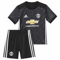 Adidas Manchester United Away Mini Kit 2017 2018 Black/White Футболни тениски на Манчестър Юнайтед