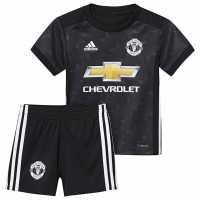 Adidas Manchester United Away Baby Kit 2017 2018 Black/White Футболни тениски на Манчестър Юнайтед