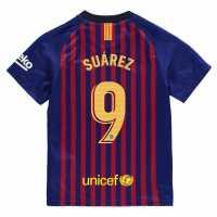 Nike Домакинска Футболна Фланелка Barcelona Lionel Messi Home Shirt 2018 2019 Junior Royal Blue