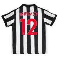 Puma Newcastle United Shelvey Home Football Shirt 2017 2018 Junior Black/White Футболни тениски на Нюкасъл Юнайтед