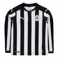 Puma Домакинска Футболна Фланелка Newcastle United Long Sleeve Home Shirt 2017 2018 Junior Black/White Футболни тениски на Нюкасъл Юнайтед
